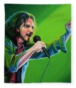 Eddie Vedder Of Pearl Jam Fleece Blanket