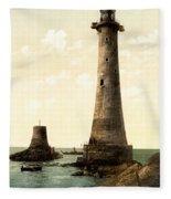 Eddystone Lighthouse Plymouth England Fleece Blanket