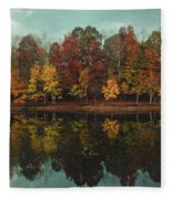 Edge Of Autumn Fleece Blanket