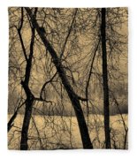 Edge Of Winter Fleece Blanket