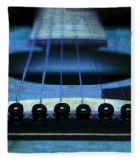 Edgy Abstract Eclectic Guitar 17 Fleece Blanket