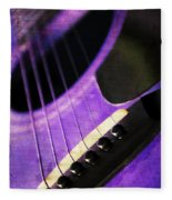 Edgy Purple Guitar  Fleece Blanket