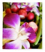 Edible Flowers Fleece Blanket