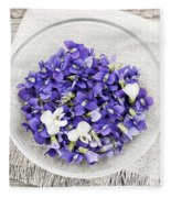 Edible Violets  Fleece Blanket