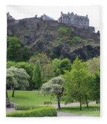 Edinburgh Castle 6493 Fleece Blanket