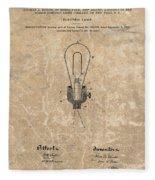 Edison Electric Lamp Patent Marble Fleece Blanket