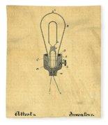 Edison Light Bulb Patent Art Fleece Blanket