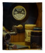 Edison Record And Equipment Fleece Blanket