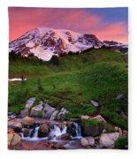 Edith Creek Sunrise Fleece Blanket