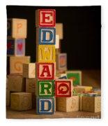 Edward - Alphabet Blocks Fleece Blanket