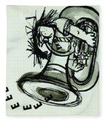 Eeeeeeek! Ink On Paper Fleece Blanket