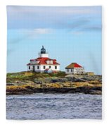 Egg Rock Lighthouse Fleece Blanket