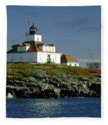Egg Rock Lighthouse Fleece Blanket