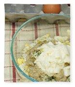 Egg Salad Ingredients Fleece Blanket