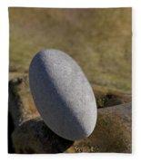 Egg-shaped Stone Fleece Blanket