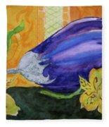 Eggplant And Alstroemeria Fleece Blanket