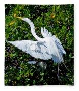Egret 1 Fleece Blanket