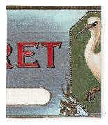 Egret Cigar Label Fleece Blanket