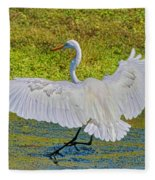Egret Full Wing Span Fleece Blanket