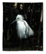 Egret Of Sanibel 2 Fleece Blanket