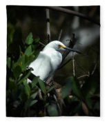 Egret Of Sanibel 5 Fleece Blanket