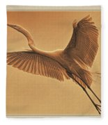 Egret Sepia Fleece Blanket
