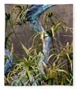 Egret Statue Fleece Blanket