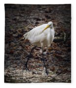 Egret Strut Fleece Blanket
