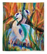 Egrets In Red 2            Fleece Blanket