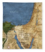 Egypt And The Holy Land Fleece Blanket