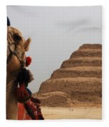 Egypt Step Pyramid Saqqara Fleece Blanket
