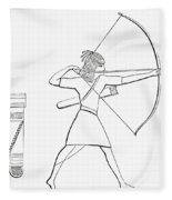 Egyptian Archer And Quiver.  From The Imperial Bible Dictionary, Published 1889 Fleece Blanket