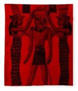 Pharaoh Atem Red Fleece Blanket
