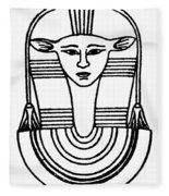 Egyptian Symbol Hathor Fleece Blanket