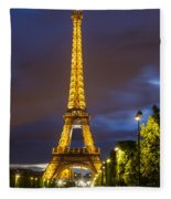 Eiffel Dusk Fleece Blanket