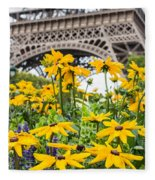 Eiffel Flower Fleece Blanket