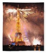 Eiffel Hat Fleece Blanket