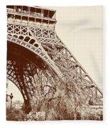 Eiffel In Sepia Fleece Blanket