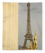 Eiffel Tour Paris Fleece Blanket