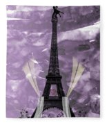Eiffel Tower - Paris - Love Fleece Blanket