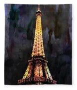 Eiffel Tower-3 Fleece Blanket
