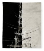 Eiffel Tower Abstract Bw Fleece Blanket