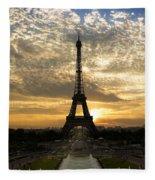 Eiffel Tower At Sunset Fleece Blanket