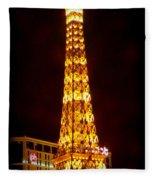 Eiffel Tower Las Vegas Nevada Fleece Blanket