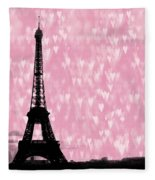 Eiffel Tower - Love In Paris Fleece Blanket