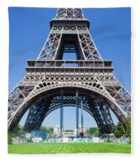 Eiffel Tower Lower Part Paris Fleece Blanket