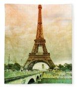 Eiffel Tower Mood Fleece Blanket