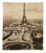 Eiffel Tower, Paris, 1900 Fleece Blanket