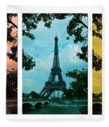 Eiffel Tower Paris France Trio Fleece Blanket
