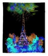 Eiffel Tower Topiary Fleece Blanket
